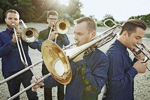 Das ungarische Posaunenquartett Four Bones spielt in der Erlöserkirche