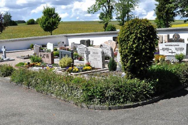 Auch anonyme Grabstätten sind möglich