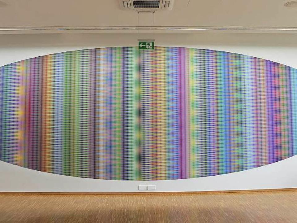 Psychedelischer Zeppelin: Tim Otto Roths Visualisierung der Zahl Pi  | Foto: Ralf Burgmaier