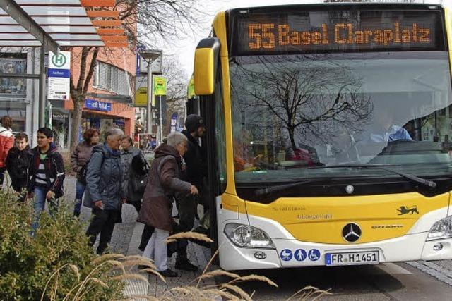 55er-Bus aus Basel zum Frankenpreis