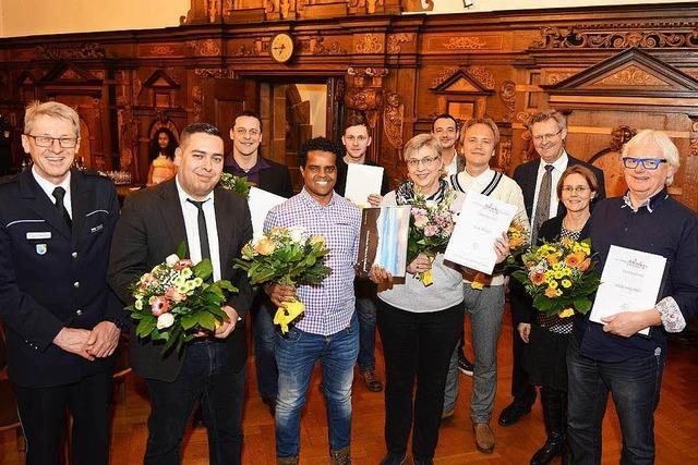 Stadt Freiburg ehrt mutige Menschen für ihre Zivilcourage