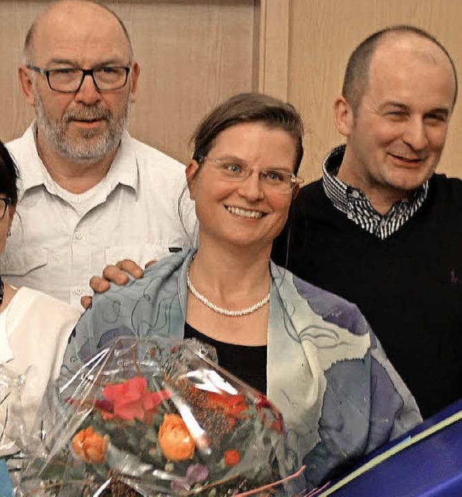 Vorstandsarbeit im Trio: Klaus Rist, Ina Heidemann, Klaus Romeike  | Foto: Horatio Gollin