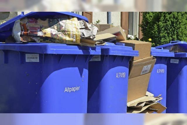Bei der Müllsortierung ganz vorne