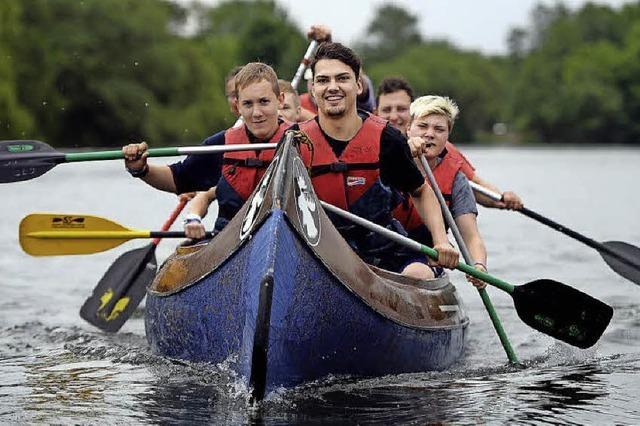 An Pfingsten im Kanu