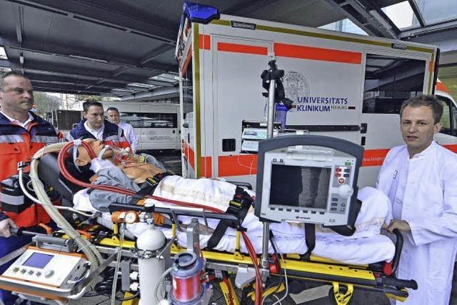Ein neues Einsatzfahrtzeug soll bei Lungenversagen Leben retten