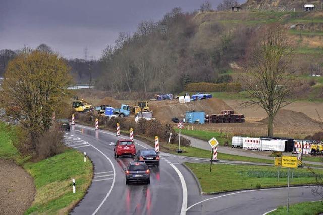 Der lang ersehnte Radweg ist in Bau