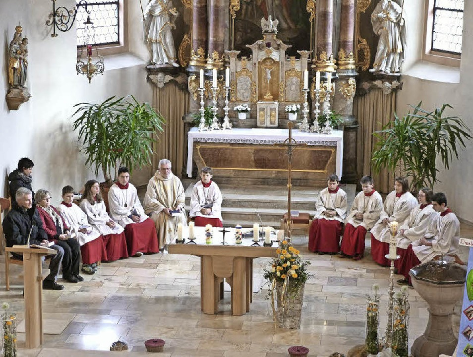 Patrozinium in der kleinen Kirche in Oberbiederbach.     Foto: Privat