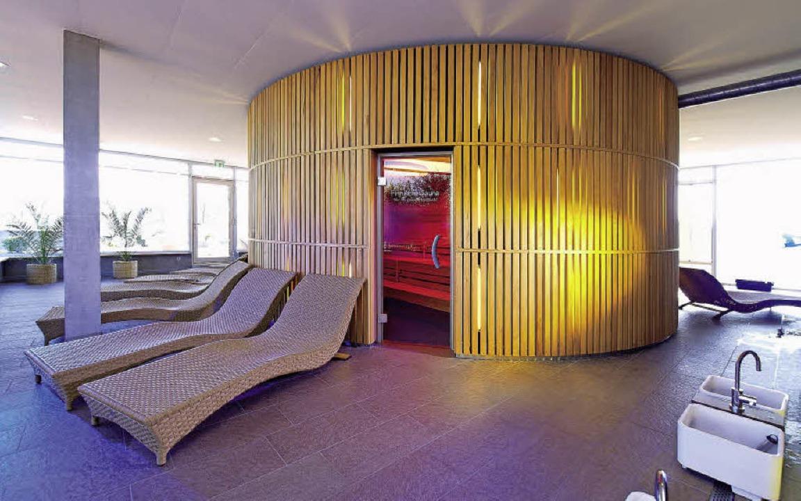 Im Saunabereich ist Entspannung angesagt.