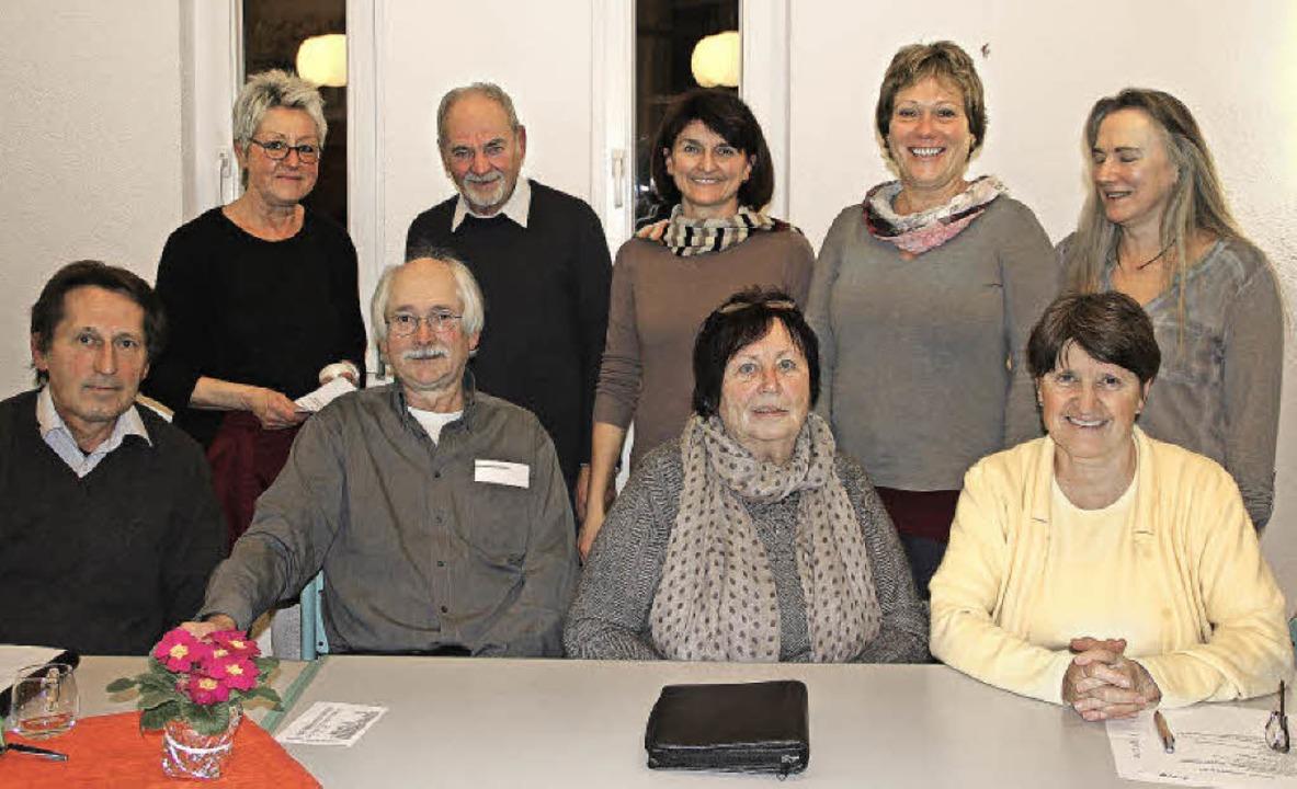 Der Bürgerverein nach dem Generationen...lke Paulini und Charlotte Pfundstein.   | Foto: Sabine Model