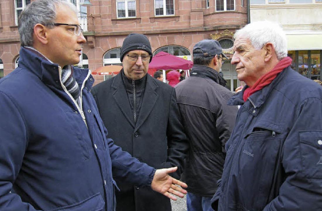 Der Vize-Bundesvorsitzende der Deutsch... im Gespräch mit Rainer Stickelberger   | Foto: zvg