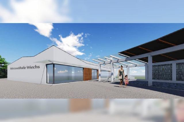 Der Neubau der Halle Wiechs gewinnt mit Landesgeld an Kontur