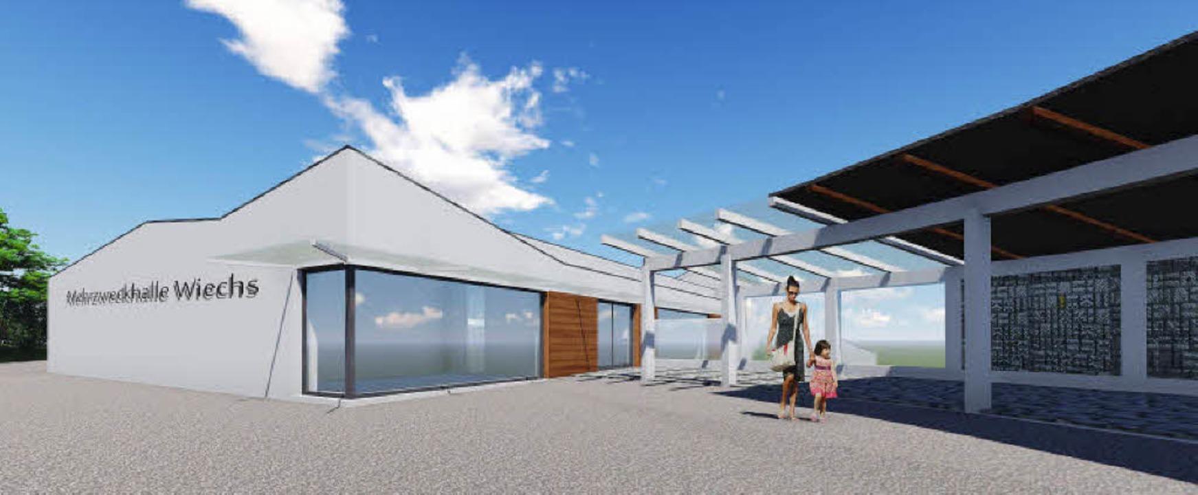 Blick in die Zukunft? So könnte die neue Halle aussehen.     Foto: Architekturbüro Herzog