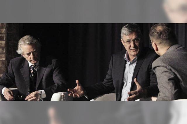 Linke-Spitzenkandidat Bernd Riexinger im Gespräch mit BZ-Redakteuren