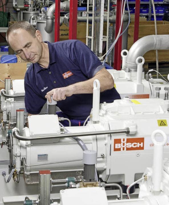 Pumpenproduktion bei Busch    Foto: Werkbild