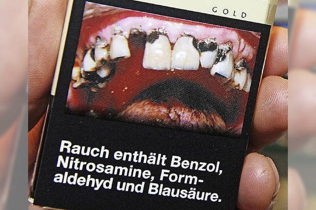 Schockfotos auf Tabakwaren
