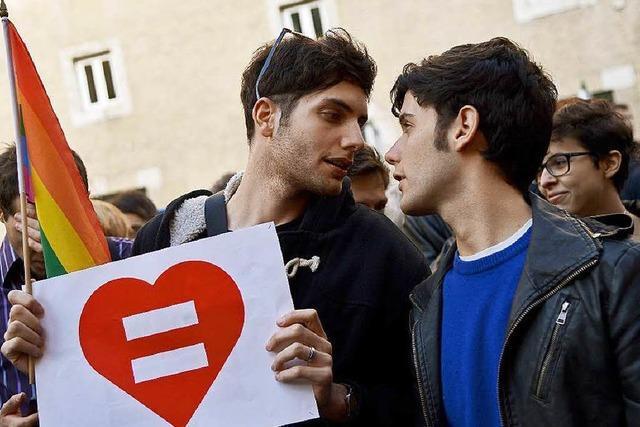 Italien erlaubt Homo-Partnerschaften