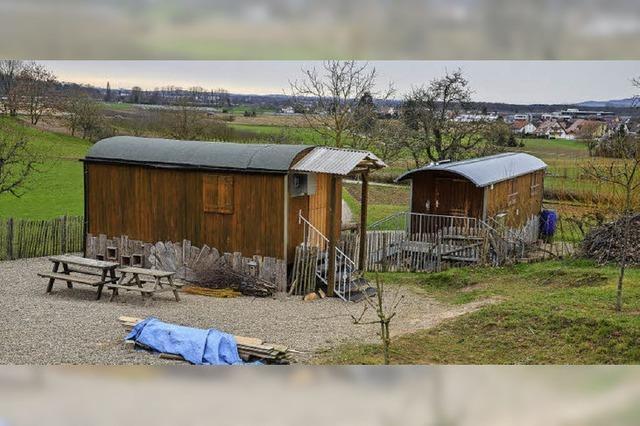 Schutzhütte für den Waldkindergarten
