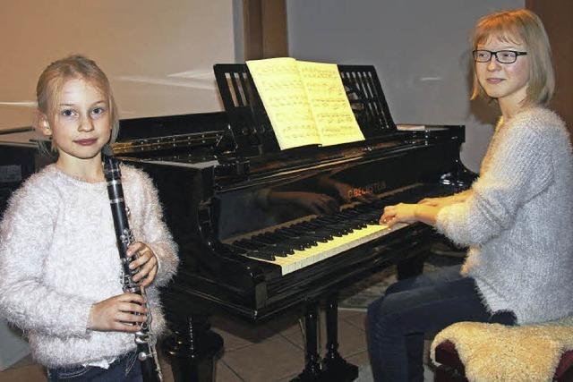 Mit Klarinette und Klavier