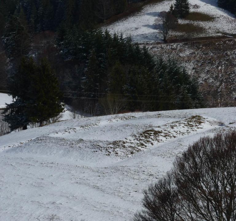 Sichtbare Reste: Die Quadratschanze  wachte über den Hau-Pass.  | Foto: Sattelberger