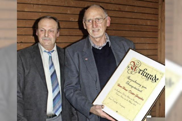 Geugelin Ehrenpräsident der Angler