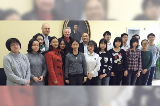 Chinesische Schüler besuchen Staufen