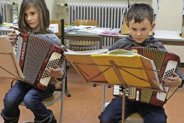 Mit Jugendmusikschulklassen in Stühlingen