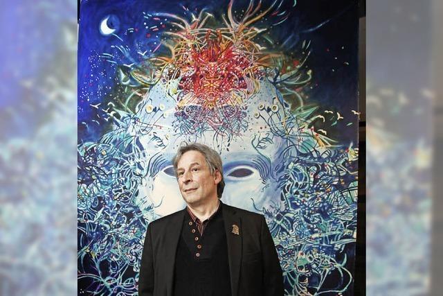Pascal Joray malt Laternen für die Basler Fasnacht