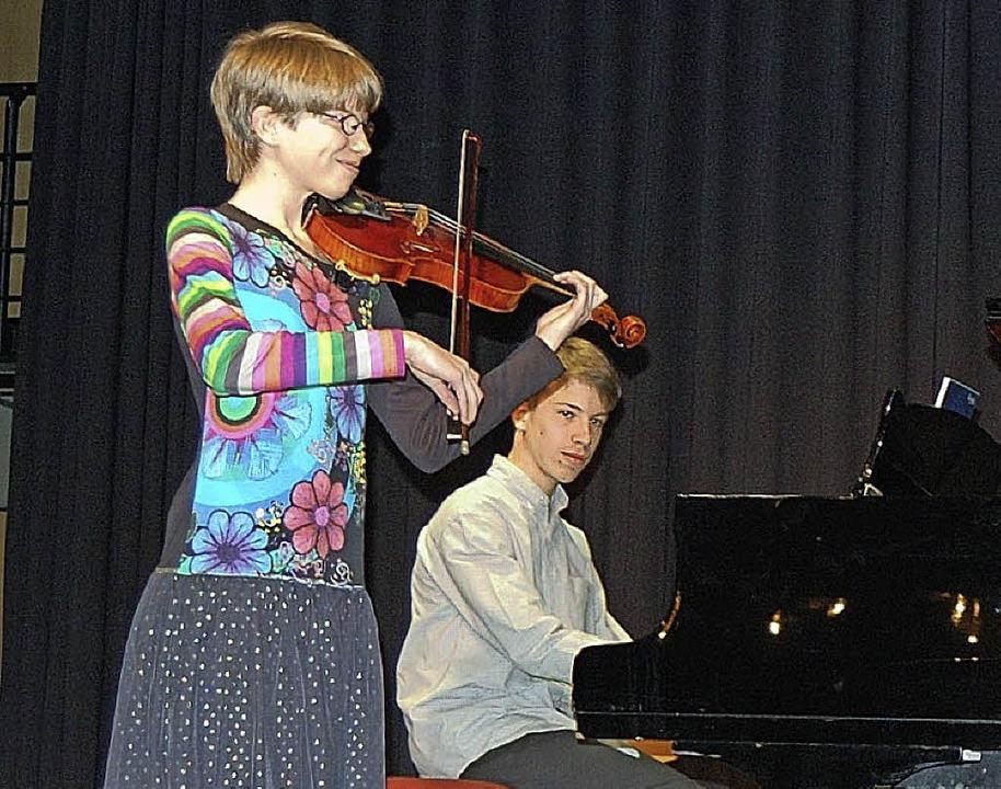 Geige, Flügel und Horn: Meike Ramm, Martin Ramm und Moritz Ramm  | Foto: Michael Ramm