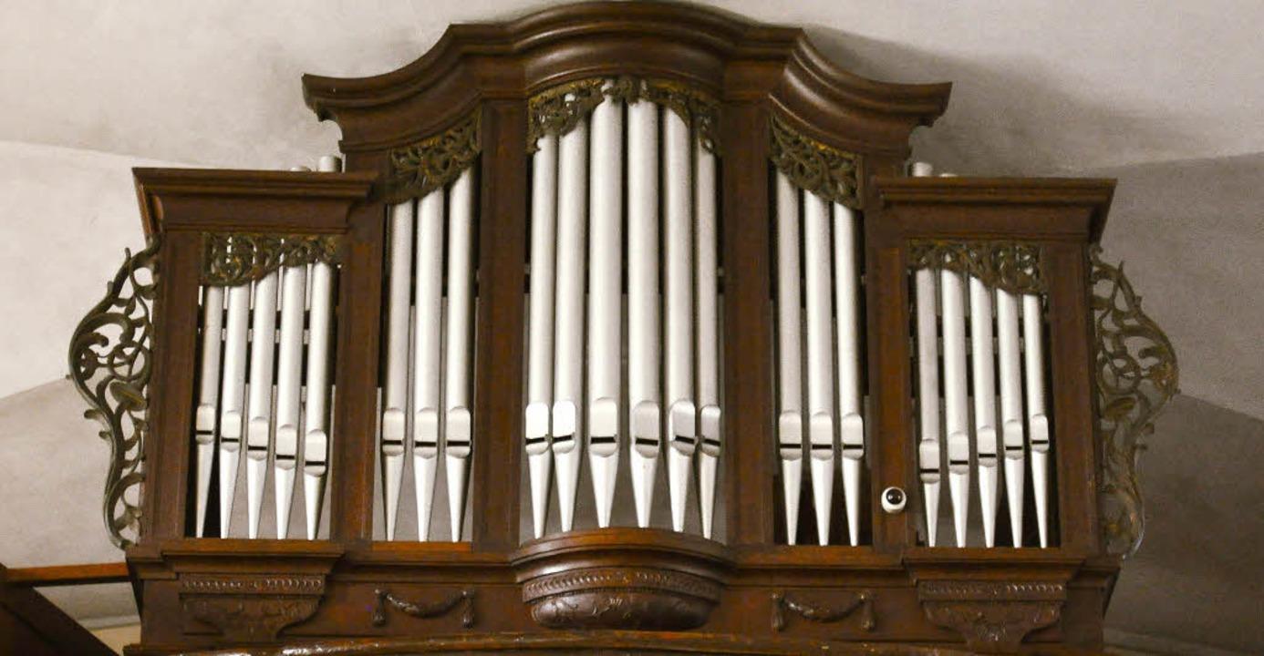 Das Gehäuse der Orgel in der Kirche St... in Wettelbrunn ist denkmalgeschützt.   | Foto: Martina Faller