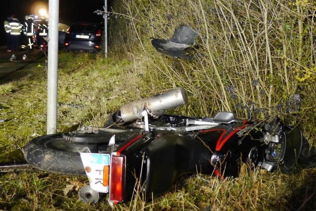 Unfall: Motorradfahrer stirbt bei Ebringen