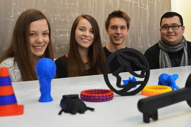 Schüler in Denzlingen experimentieren mit 3D-Drucker