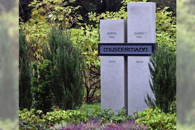 Immer mehr Grabstellen in modernem Design