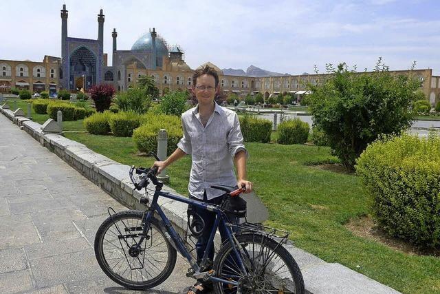 Andreas Blum war mit dem Fahrrad unter wegs nach Isfahan im Iran
