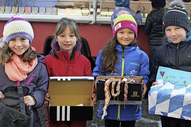 Grundschüler aus Hinterzarten sammeln Spenden für Flüchtlingskinder