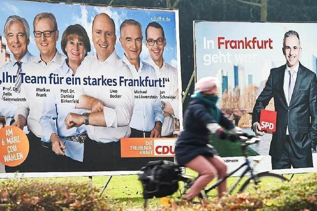 Schwarz-Grün könnte Mehrheit in Frankfurt verlieren