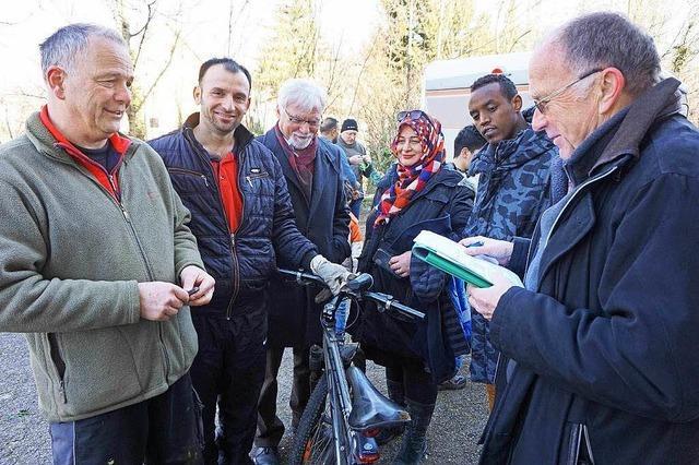 Fahrräder machen die Flüchtlinge in Lahr mobil