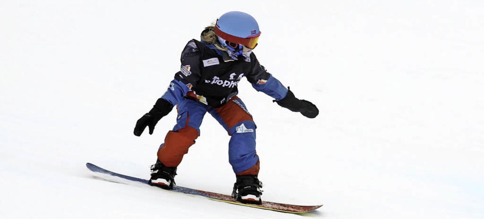 Celine Ketterer vom SC Löffingen ist e...gen der deutschen Snowboard-Crosser.    | Foto: UMS