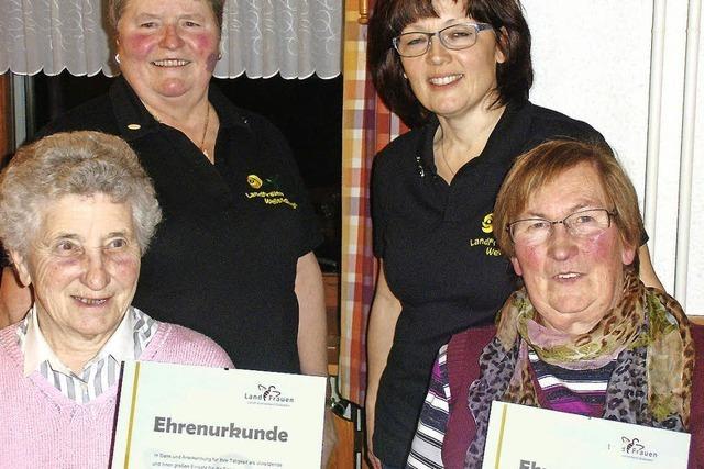 Landfrauenverein hat neue Ehrenmitglieder