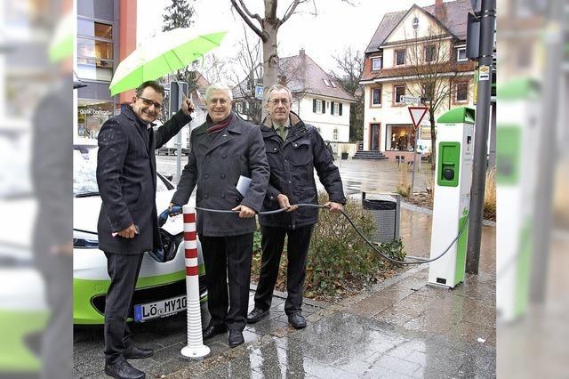 Elektroauto steht zum Teilen bereit