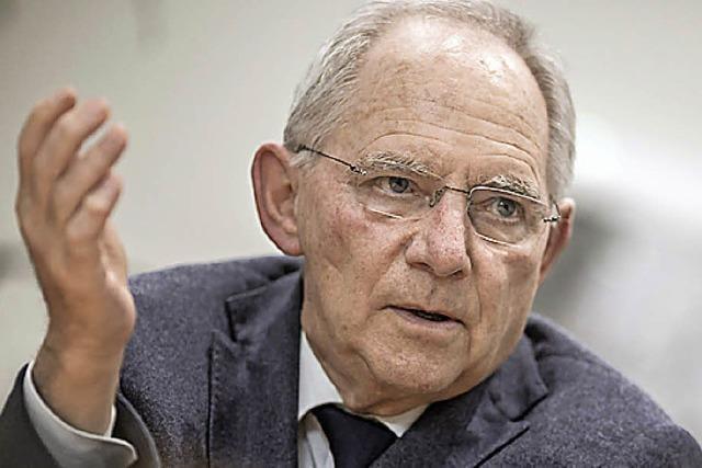 Finanzminister Schäuble kommt nach Schopfheim