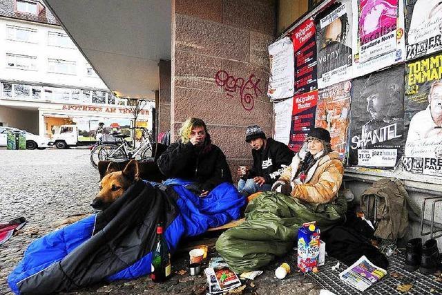 Freiburg verbannt Obdachlose nachts aus der Innenstadt