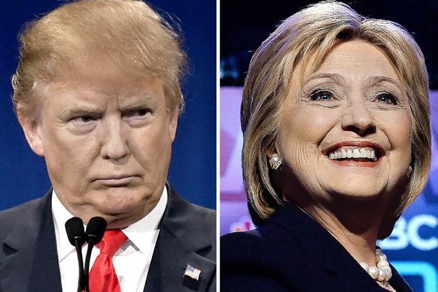 Donald Trump und Hillary Clinton setzen sich von Rivalen ab