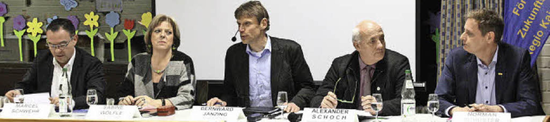Das Podium mit (von links) Marcel Schw..., Alexander Schoch und Norman Schuster  | Foto: Christiane Franz