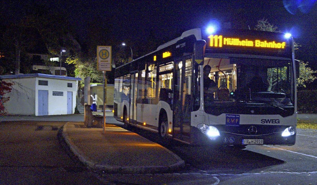 Einen  Bus am späteren Abend nach Müll... Gemeinderat erneut damit  befassen.    | Foto: Silke Hartenstein