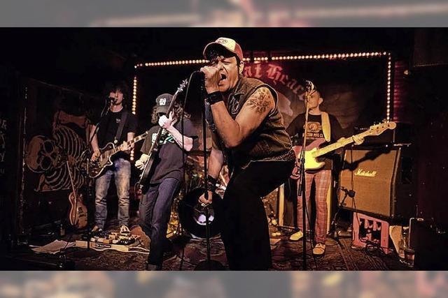 Die Bands Unleash The Sky, Stereo Dynamit und Chicken Reloaded in Auggen