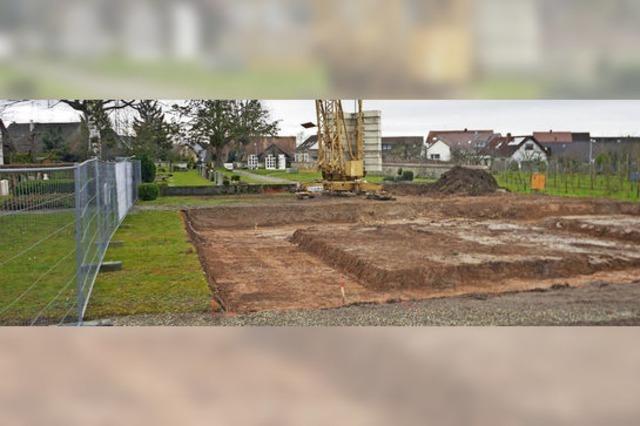 Der Anfang fürs Friedhofshaus ist gemacht
