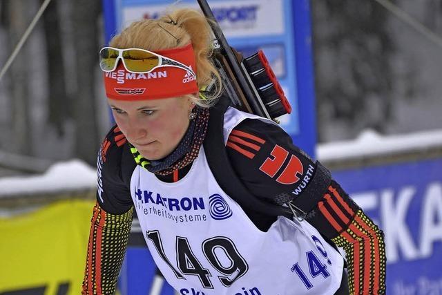 Biathletin Janina Hettich gewinnt DM-Titel