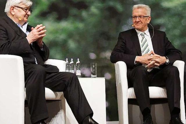 Joschka Fischer und Winfried Kretschmann Seit an Seit