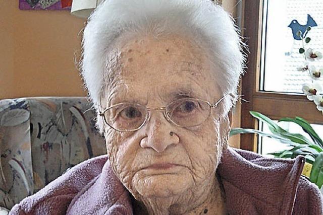 Wehrs älteste Bürgerin ist gestorben - im Alter von 101 Jahren