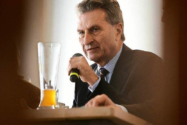 Die besten Sprüche von Günther Oettinger bei seinem Auftritt in Freiburg